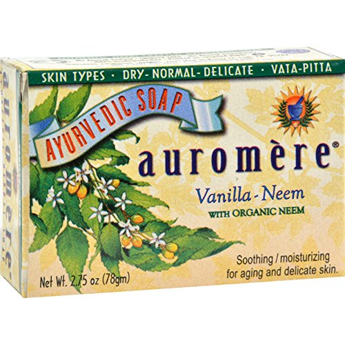 Auromere Bar Soap - Ayurvedic - Vanilla Neem - 2.75 oz(Pack of 2)