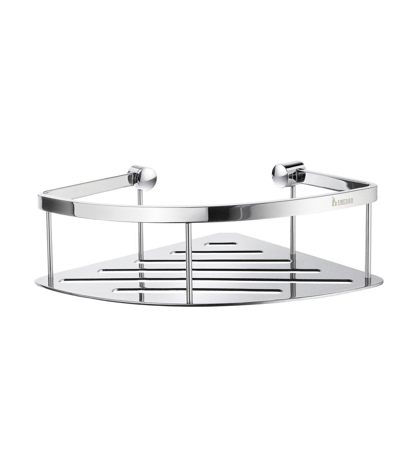 Smedbo DK3031 Design Corner Basket, Polished Chrome