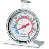oven thermometer with 55mm dial - stainless steel housing