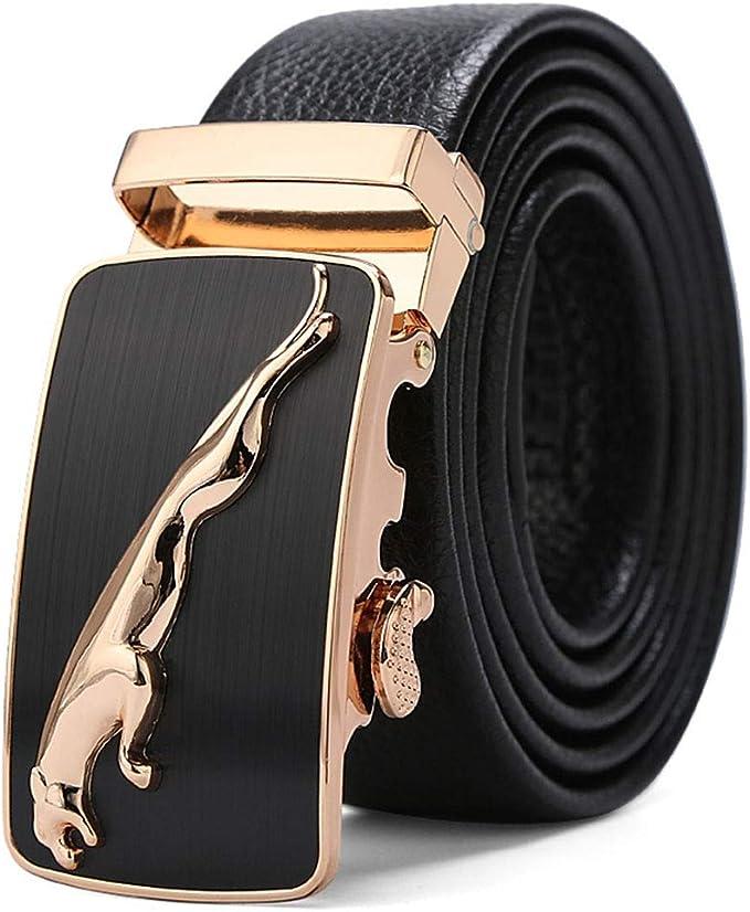 New Belt buckle only Men's belt Buckle Automatic sliding buckle Black Jaguar