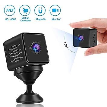 Mini Cámara Espía, WZTO Cámara Oculta con Sensor Movimiento y Visión NocturnaWiFi HD 1080P Cámara Vigilancia inalámbrica Portátil Camara de Seguridad ...