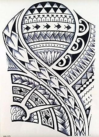 UNISEX TATUAJES TRIBAL Tatuajes temporales tatuaje wx123 para el ...