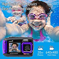 Ivation 20MP Underwater Shockproof Digital Camera & Video Camera w/Dual Full-Color LCD Displays – Fully Waterproof & Submersible Up to 10 Feet by Ivation