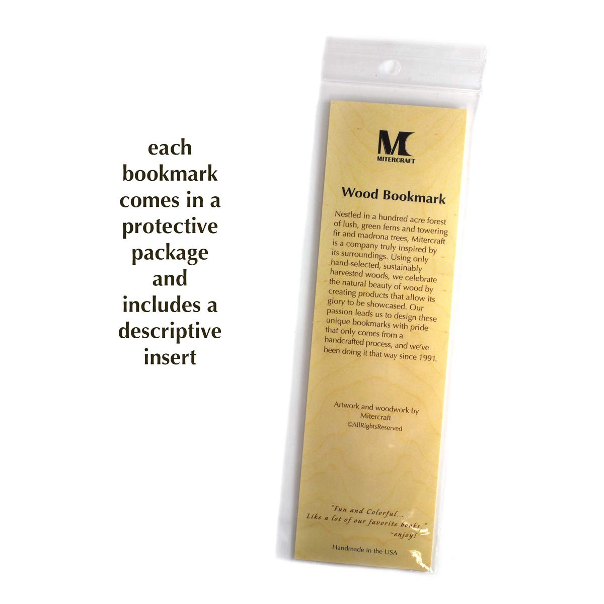 Mitercraft Engraved Wooden Bookmark - Yellowstone National Park, Wyoming with Tassel - Search B076VW33V3 to See Personalized Version. by Mitercraft (Image #6)