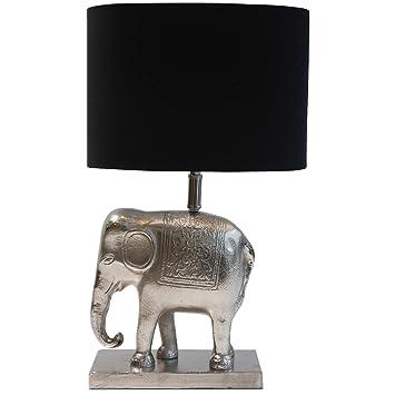 Tischlampe Elefant Lampe Aluminium Schwarz Silber 50 Cm Cor Mulder