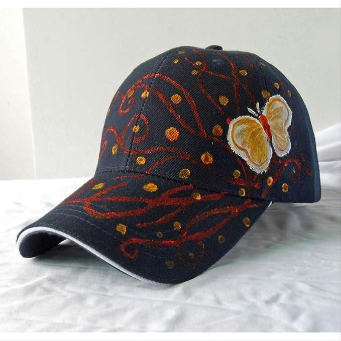 Gorra de béisbol Femenina Pintada a Mano Mariposa Moda Original ...