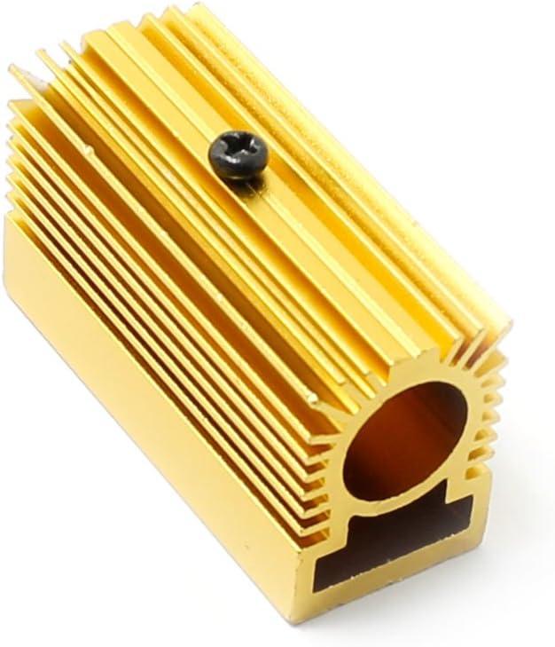 Q-BAIHE Dissipateur thermique en aluminium pour module laser 12 mm Dor/é 20 x 27 x 50 mm
