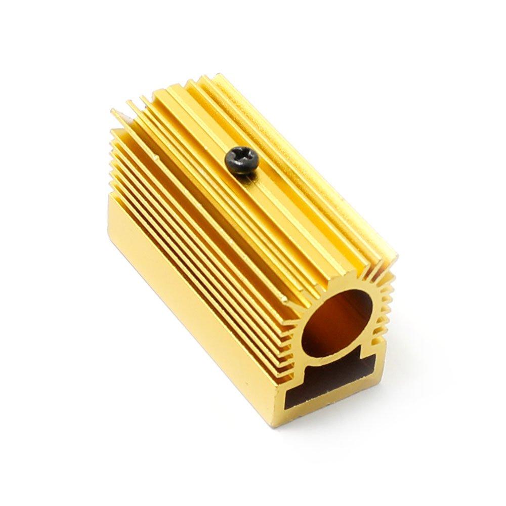 Generic Radiatore in Alluminio dissipatore 20 x 27 x 50 mm per modulo Laser 12 mm Dorato Lillyelectronic HS-12-202750-Gold