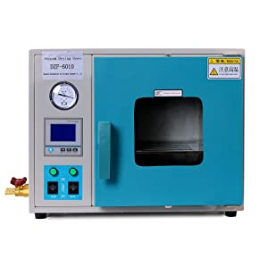 HNZXIB Vacuum Drying Oven 0.28 Cu Ft 8L Digital Heating Drying Oven Stainless Steel Vacuum Chamber