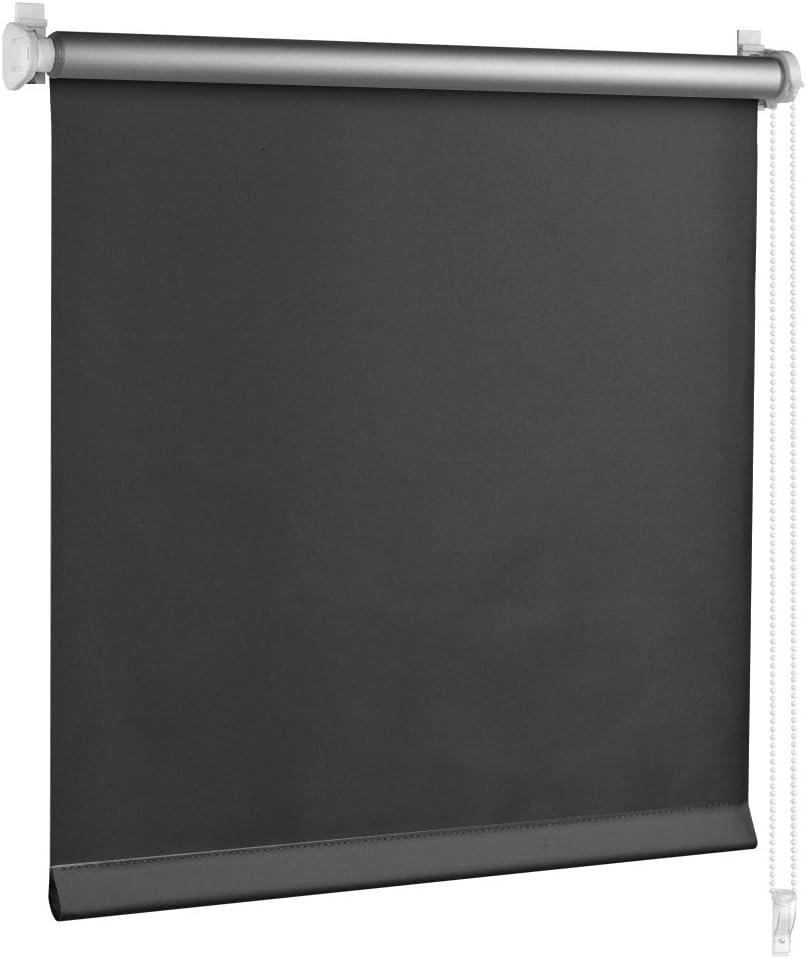 S SIENOC Thermorollo Store occultant Klemmfix sans per/çage Storebloquant Tirant lat/éral Stores Beige, 55x150 cm