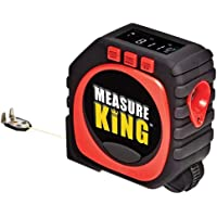 Measure King 3 in 1 Digital Tape Measure Laser Tape Measure,String, Sonic and Roller Wheel Mode, with Large LCD Display, Portable Digital Rangefinder for Your Measurements