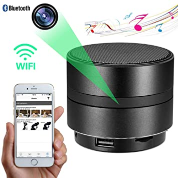 H1 WiFi Hidden Spy Camera Bluetooth Speaker IR Night Version 4K Video Recorder