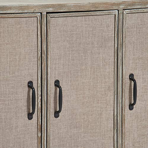 Truly Home FUCN10052A Cottage Storage Cabinet Gray