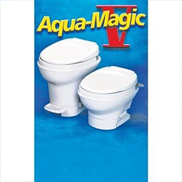 Amazon.com: RV Aqua Magic Pedal Flush Toilet Motorhome Water Saving ...