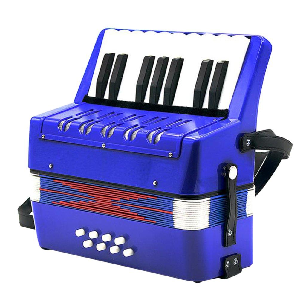 Almencla Durable Children's Toy Accordion Kids Piano Accordion 17 Keys 8 Bass by Almencla