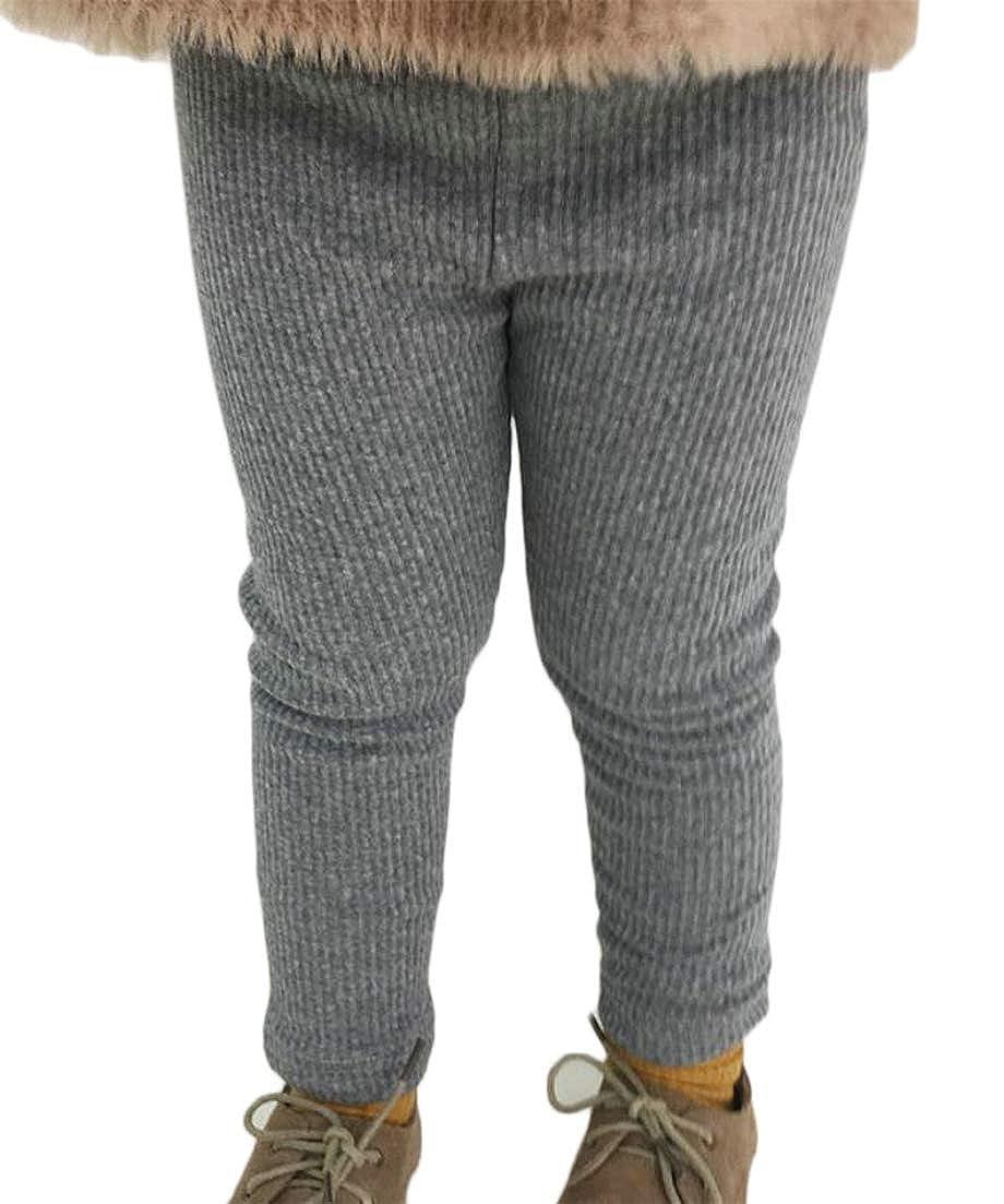 Conffetti Girls Pants Fleece Autumn Winter Warm Mid Rise Base Layer Leggings