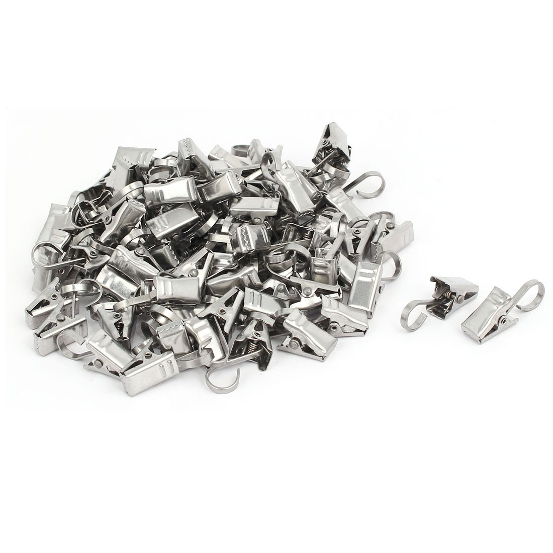 Photos Art Craft Display and Home Decoration Silver Tone 30 Pcs a18081500ux0685 uxcell Curtain Clips with Hooks Metal 1 Inch Clip Length for Drapery