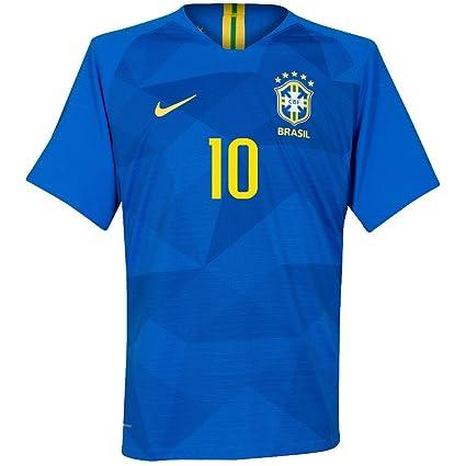 cheap for discount 0a87a 23fa7 Amazon.com : Brazil Away Neymar Jr 10 Jersey 2018/2019 ...