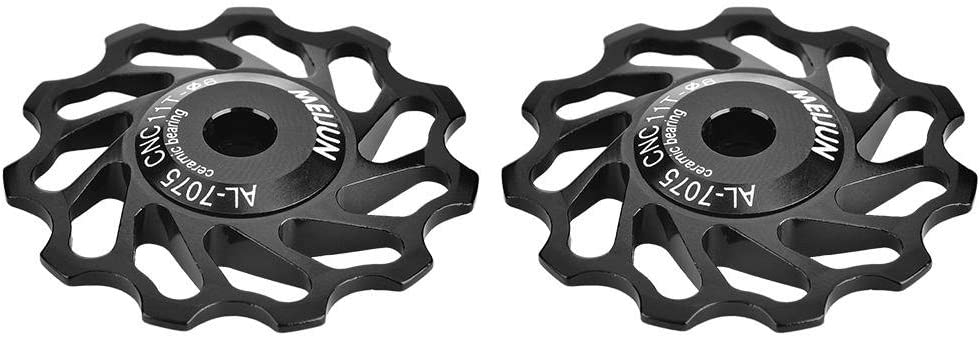 1//5pc Mountain Bike Bicycles Cycling Rear Derailleur Guide Roller Jockey Wheel B