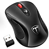 Habor Wireless Mouse, 2.4G Cordless Mouses Portable Optical Computer Mice with USB 3.0 Nano Receiver, 5 Adjustable DPI Levels, 6 Buttons, Power Saving Wireless Gaming Mouse for Laptop, PC, Macbook