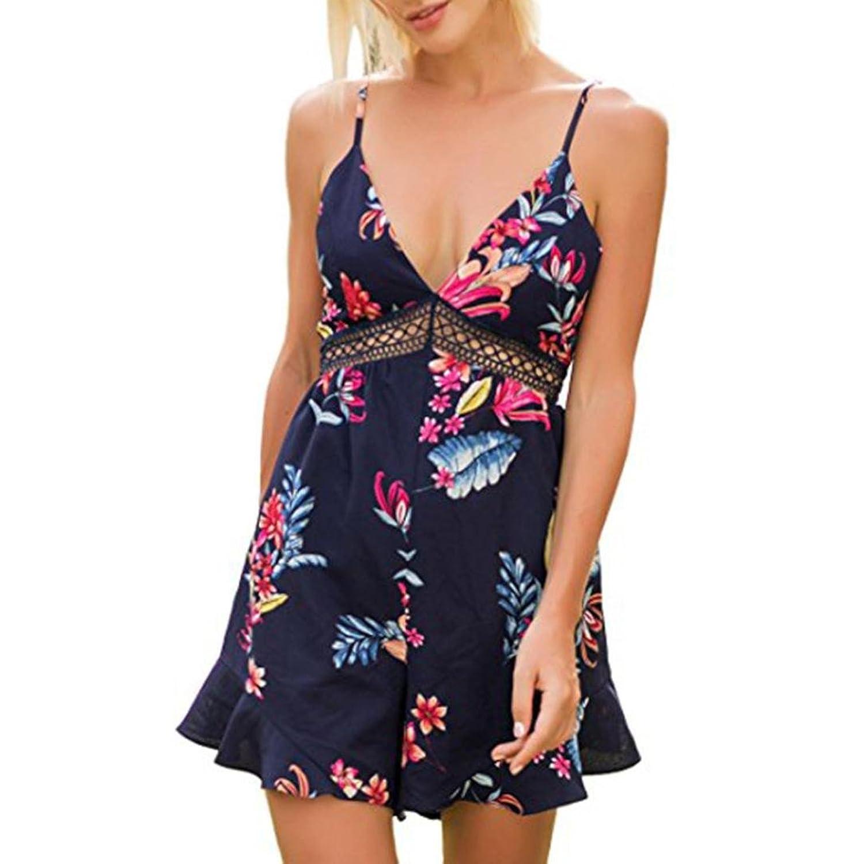 c181a17d3be4 hochwertige Bekleidung Longra Longra Jumpsuit Damen Boho ...