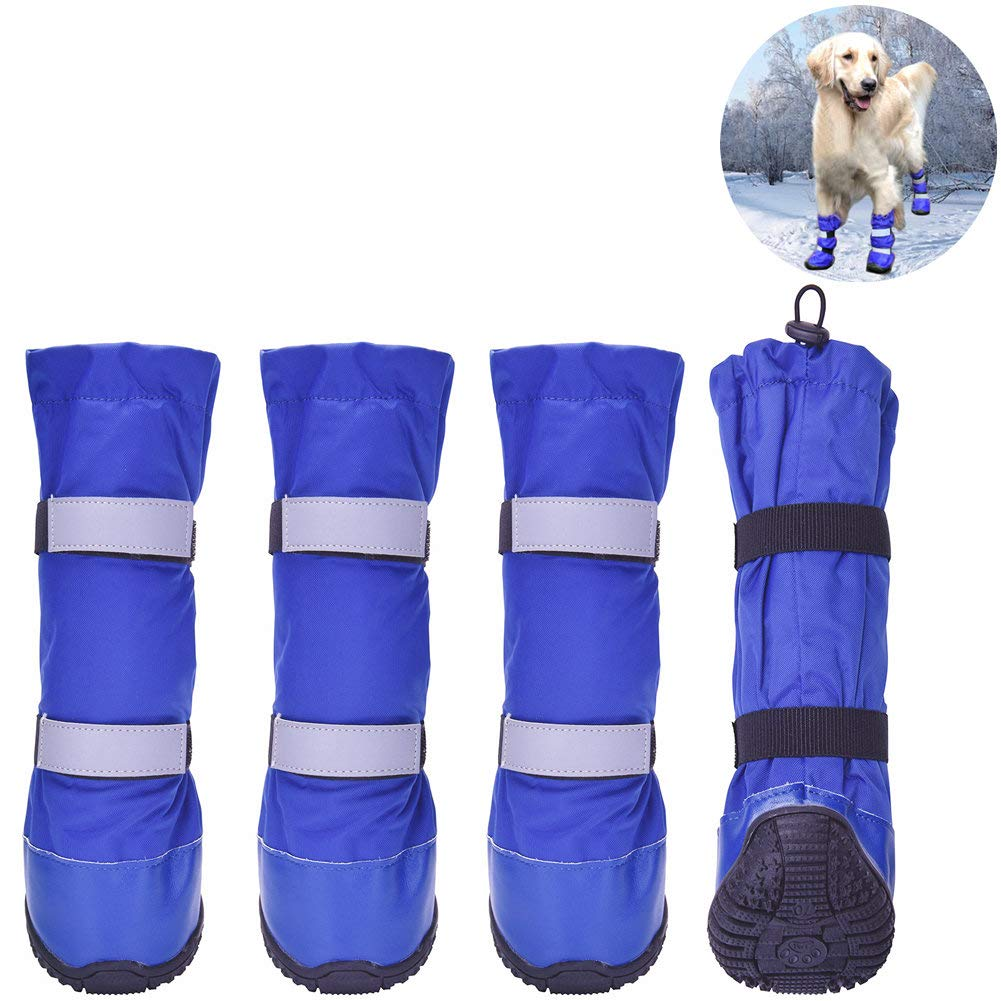 HiPaw Winter Water Resistant Dog Boots Nonslip Rubber Sole for Snow Rain by HiPaw