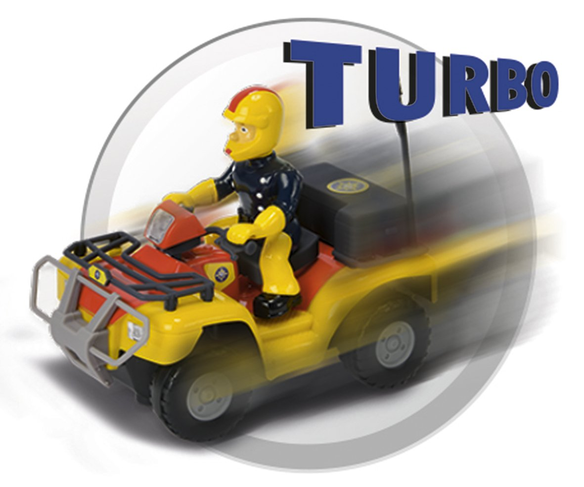Amazon.com: Dickie Toys Fireman Sam - Quad Bike Mercury (Remote Control Vehicle): Toys & Games