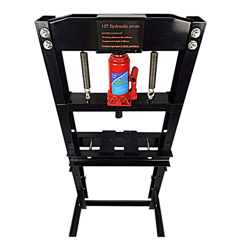 Red DKIEI 12 Ton Hydraulic Workshop Garage Shop Floor Press Bottle Jack Pressing Plates Bearing