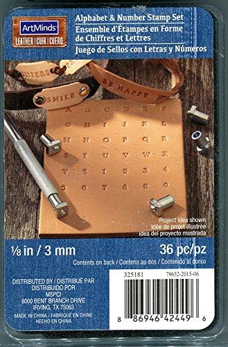 Art Minds Leather Alphabet & Number Stamp Set 1/8 inch - ...