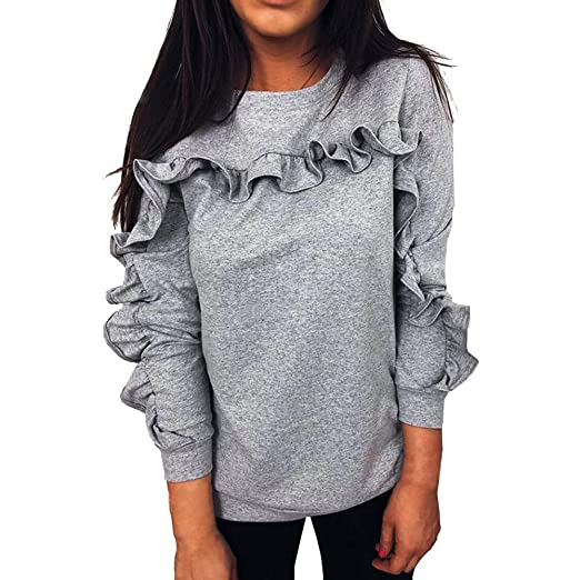 a646071ce6a78 VonVonCo Pullover Sweaters for Women, Women Casual Solid O-Neck ...