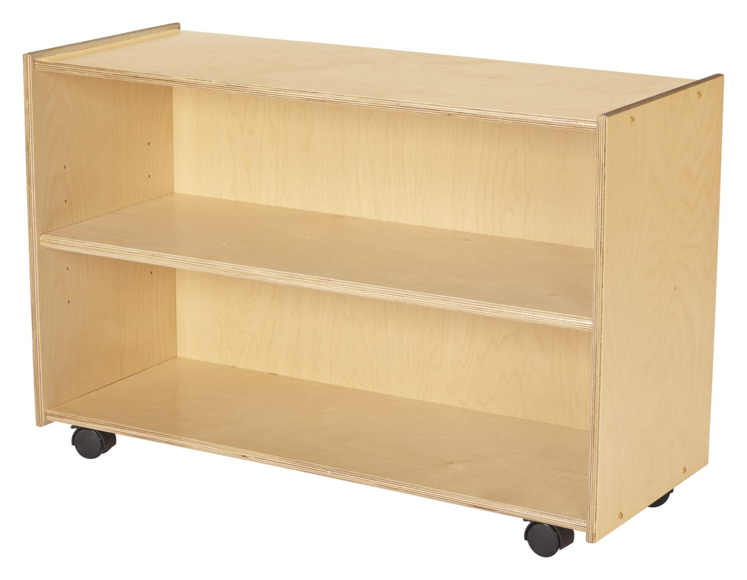 Childcraft 1558444 Shelving with Locking Casters, 35-3/4'' x 14-1/4'' x 24'', Brown