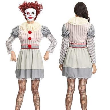 ZAOWEN Disfraz De Halloween Vestidos De Payaso De Circo Disfraces ...