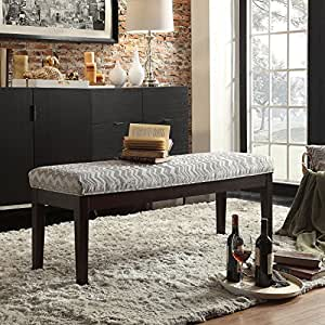 dining room bench seating with storage | Amazon.com: Contemporary Vanity Gray Bench-the most ...