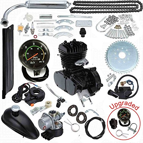 Seeutek 80cc Bicycle Engine Kit 2-Stroke Gas Motorized Motor Bike Kit Upgrade with Speedometer
