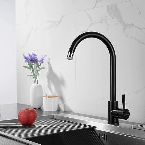 Schwarze Küchenarmatur Küchen Mischbatterie Wasserhahn mit ...