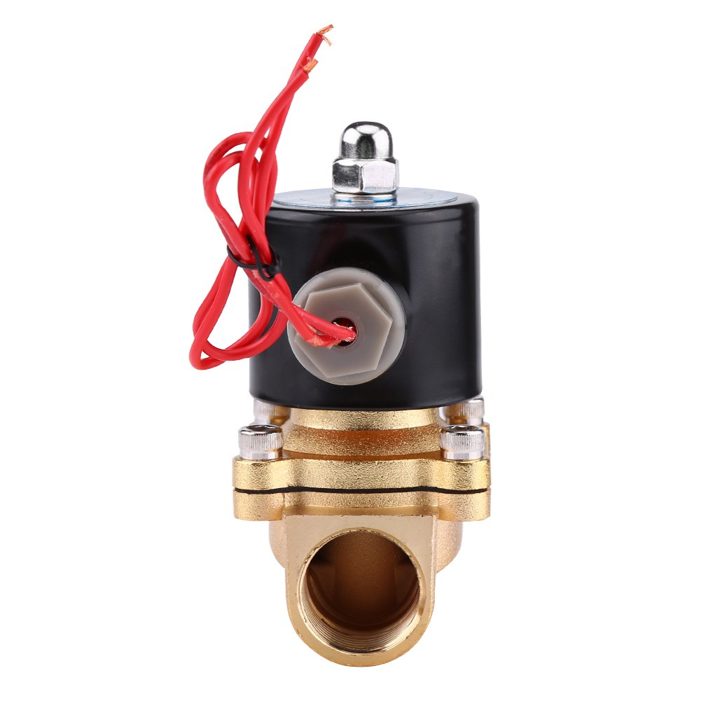 AC 220V 3//4 NC Electric Solenoid Valve Zinc Alloy Body for Water Oil Air Gas