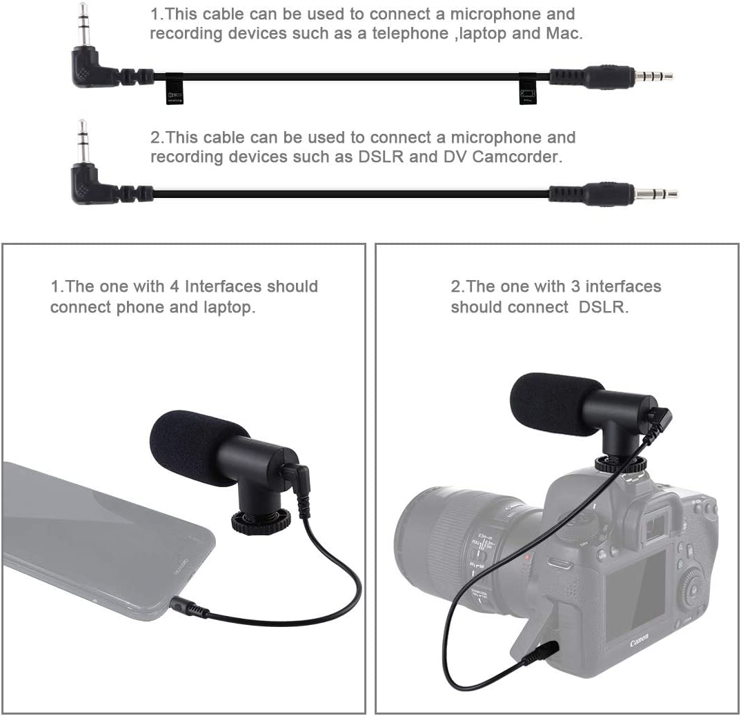 Tripod Mount HUIFANGBU 4 in 1 Vlogging Live Broadcast 4.7 inch 12cm Ring LED Selfie Light Smartphone Video Rig Handle Stabilizer Aluminum Bracket Kits with Microphone Cold Shoe Tripod Head