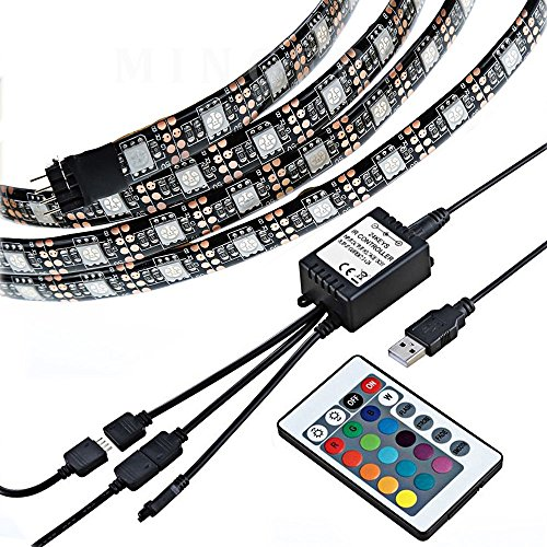 Justech 160cm LED Light Strip USB Dimmable TV Strip Lights TV Backlight...