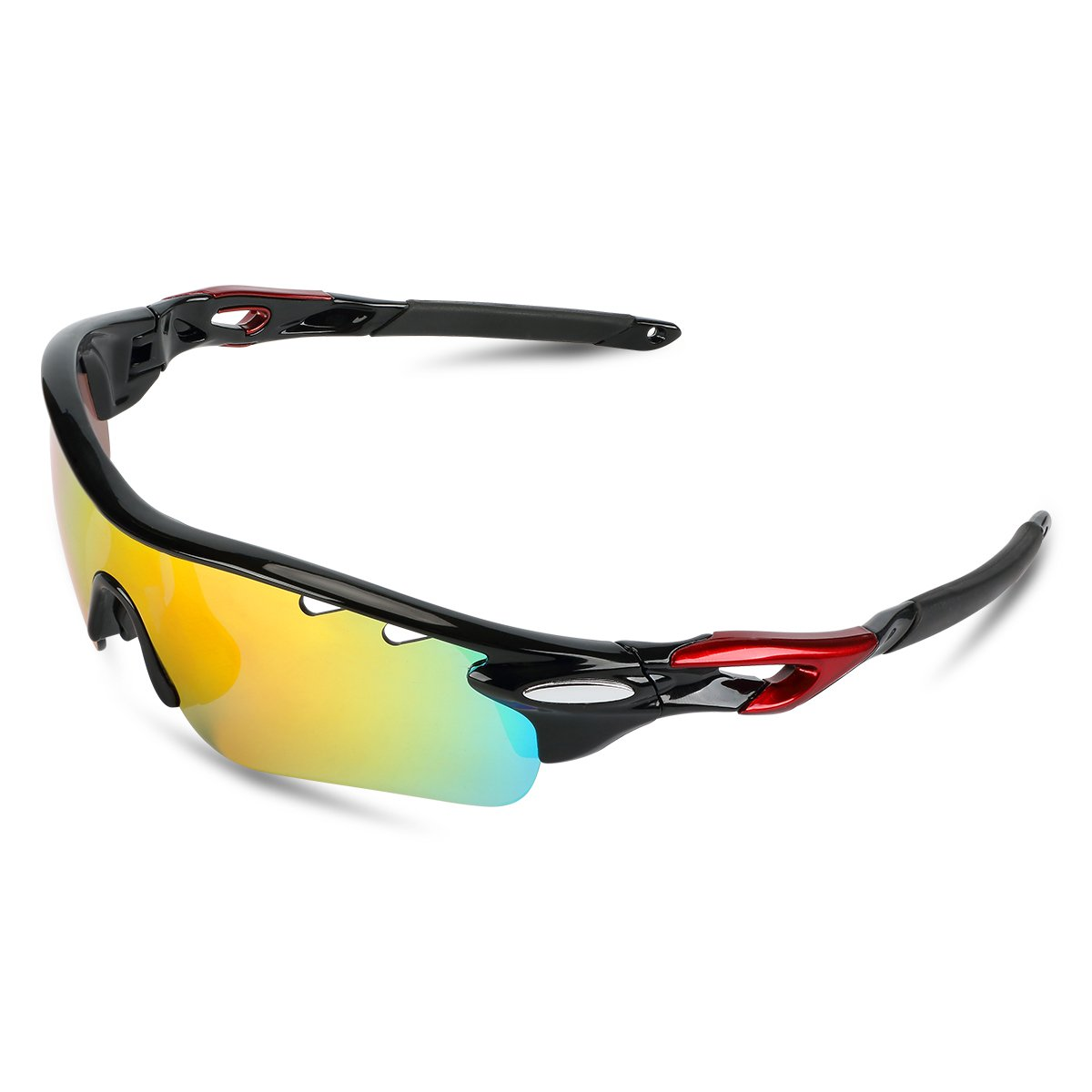 URCAMP Polarized Sport Sunglasses UV400 PROTECTION With 4 Interchangeable Lenses