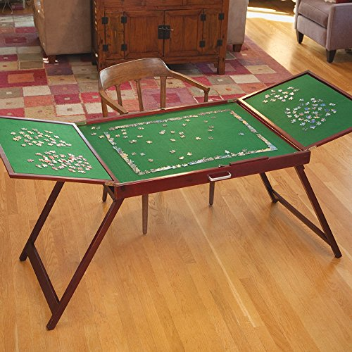 table jigsaw. bits and pieces - wooden fold-and-go jigsaw table-collapsible puzzle table