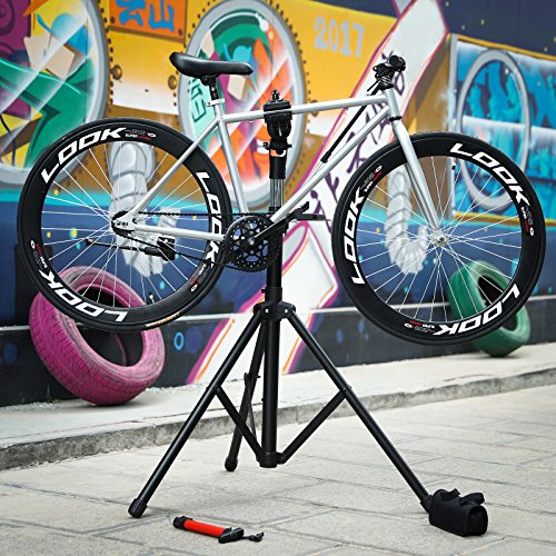SONGMICS Bike Repair Stand with Aluminum Alloy Arm, Large Tool Tray, Full Features Stronger & Durable, Portable, Compact USBR03B by SONGMICS (Image #6)