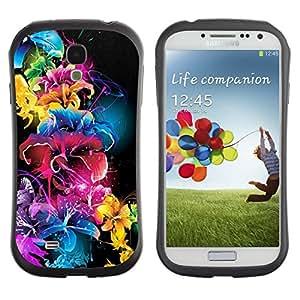 """Hypernova Slim Fit Dual Barniz Protector Caso Case Funda Para SAMSUNG Galaxy S4 IV / i9500 / i9515 / i9505G / SGH-i337 [Vivid Color Negro Azul Rosa""""]"""