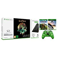 Xbox One S 1TB Console Sea of Thieves Bundle with Vertical Stand/Forza Horizon 3/Minecraft Explorers Pack/Wireless Controller Minecraft Creeper