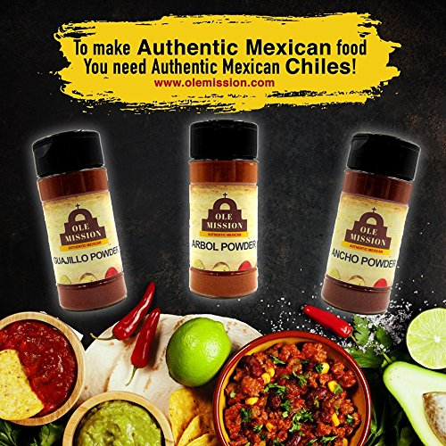Chile Powder 3 Pack Bundle - Ancho, Guajillo And Arbol Set Holy Trinity Of Chile Peppers by Ole Mission by Ole Mission (Image #2)