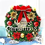 Christmas Wreath Decorated Ornament Garland Indoor or Outdoor Red (Small Image)