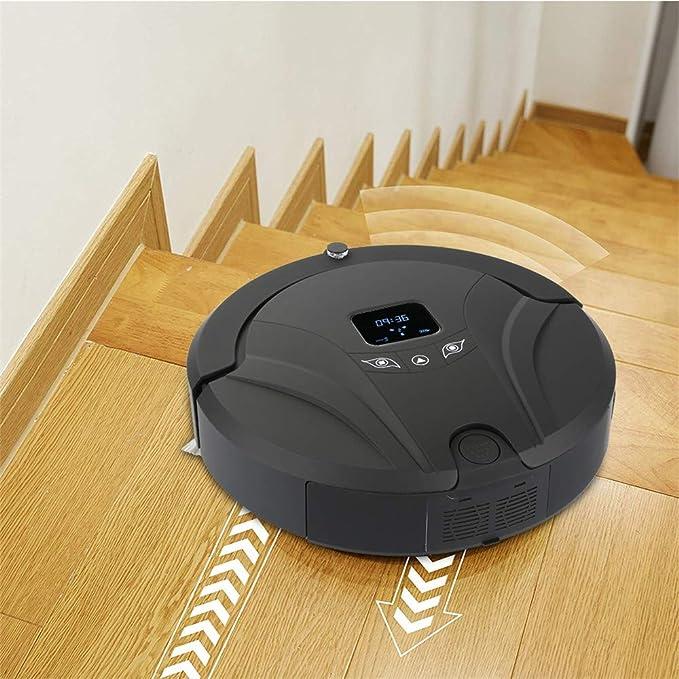 Aspirador robot, barrer el suelo, pasar la aspiradora, trapear el suelo (3 en 1), reservar el tiempo de limpieza, evitar los obstáculos de forma inteligente ...