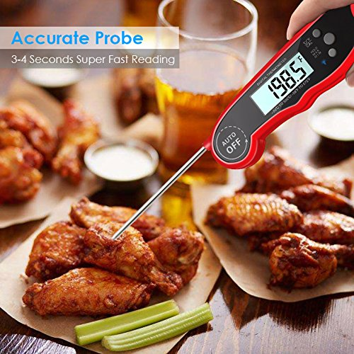 GDEALER-Waterproof-Digital-Meat-Thermometer-Super-Fast-Instant-Read-Thermometer-BBQ-Thermometer-with-Calibration-and-Backlit-Function-Cooking-Thermometer-for-Food-Candy-Milk-Tea-BBQ-Grill-Smokers