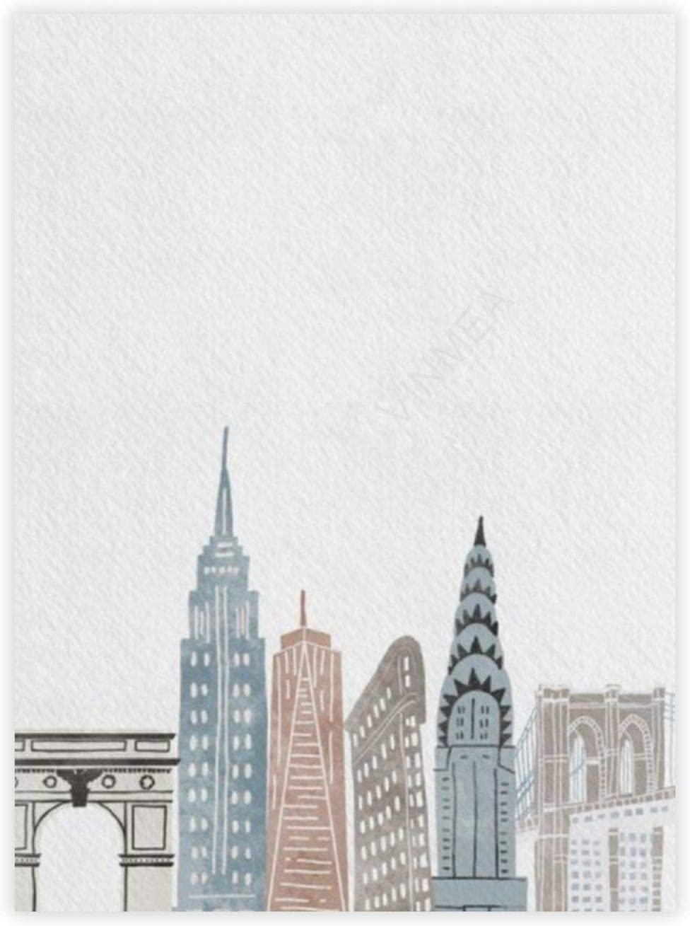 "yyone Famous Scenery Wrapped Canvas New York State of Mind On Canvas Modern Wall Art Decor Wooden Framed 12"" X 16"""