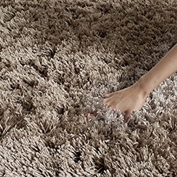 Safavieh Polar Shag Collection PSG800C Mushroom Area Rug, 4 x 6