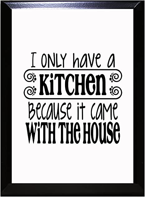 Metal retro sign i only have a kitchen because it come with the house